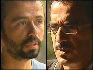 Killani (dir.) e Koraltan disseram que achavam que seriam executados (Foto: BBC)