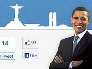 Página criada pela embaixada dos EUA sober visita de Barack Obama ao Barsil (Foto: Reprodução/G1)
