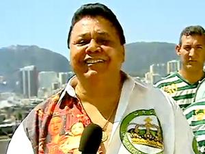Dominguinhos do Estácio foi internado após passar mal (Foto: Reprodução / TV Globo)