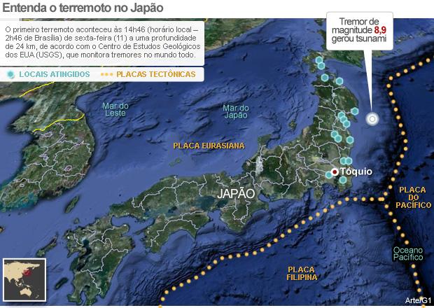Saiba como aconteceu  o terremoto no Japão ( )