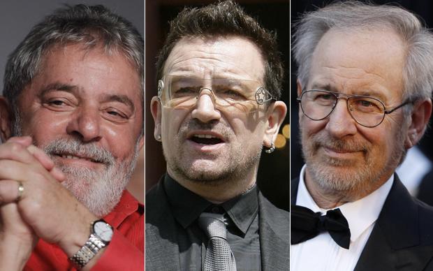 Lula, Bono e Steven Spielberg (Foto: Reuters)