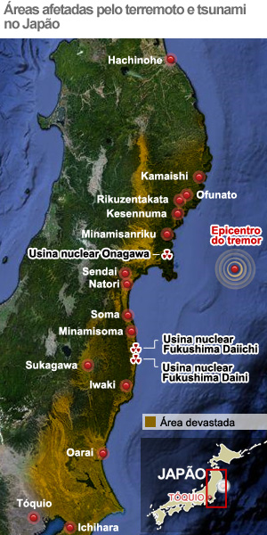 mapa terremoto cidades afetadas (Foto: Arte G1)