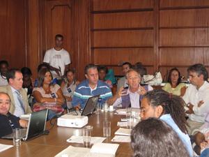 Reunião Gramacho (Foto: Carolina Lauriano / G1)