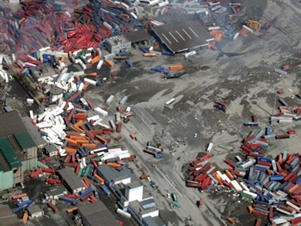 tsunami no Japão (Foto: AFP)