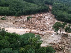 Chuvas no litoral (Foto: Beto Richa/Governo do Paraná/Divulgação)