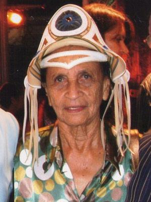 Chiquinha Gonzaga durante inauguração do memorial de Luiz Gonzaga, em 2008 (Foto: Arquivo Pessoal/Marcelo Lafaete)