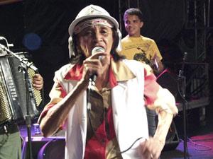 Chiquinha Gonzaga durante show realizado no Recife, em junho de 2009 (Foto: Divulgação/Carlos Augusto/Prefeitura Municipal do Recife)