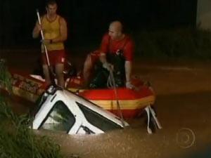 Chuva causa prejuízos em Santa Catarina (Foto: Reprodução/TV Globo)