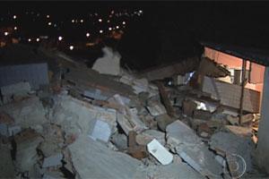 Prédio desaba na Região de Venda Nova, Belo Horizonte  (Foto: Reprodução TV Globo)