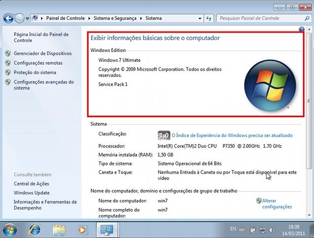 Windows 7 Service Pack 1 instalado com sucesso no PC (Foto: Reprodução)