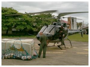 Até terça-feira  (15), 168 toneladas de doações haviam sido levadas para as vítimas no litoral. (Foto: Odilon Araújo / RPC TV )