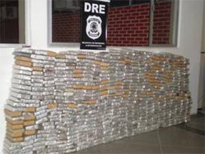 500 quilos de maconha apreendidos em Sergipe (Foto: Divulgação/Polícia Federal)