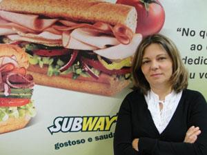 Roberta Damasceno, gerente nacional da Subway  (Foto: Divulgação)