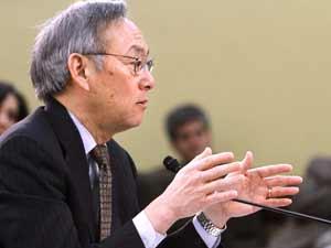 Secretário americano de Energia, Steven Chu, no Congresso (Foto: AP)