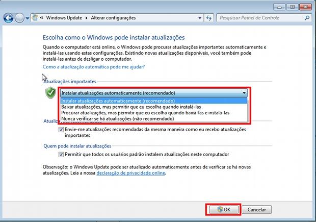 Habilitando o Windows Update (Foto: Reprodução)