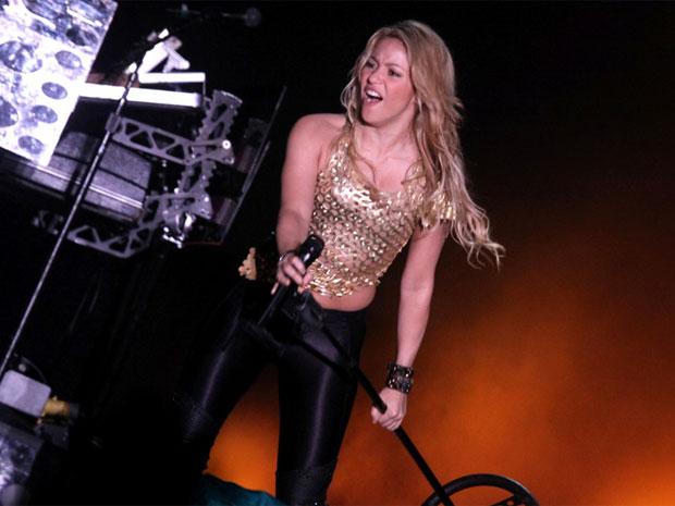 A cantora colombiana Shakira em show em Porto Alegre (Foto: Dilson Silva / AgNews)