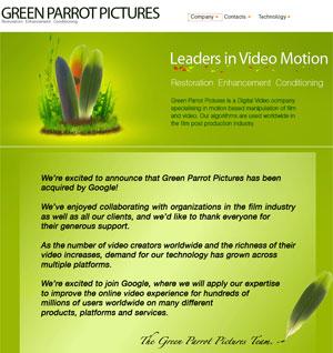 Equipe do Green Parrot anuncia compra pelo Google (Foto: Reprodução)