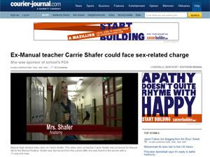 Professora Carrie Shafer acusada de abuso sexual (Foto: Reprodução)