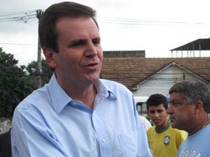 Prefeito Eduardo Paes fala sobre a visita de Obama ao Brasil (Foto: Liana Leite/G1)