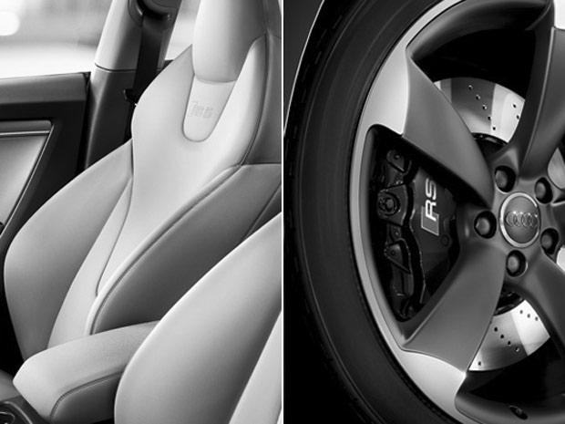 Detalhes do banco e da roda do Audi RS5 (Foto: Divulgação)