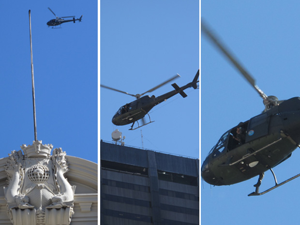 Helicópteros Rio Obama (Foto: Carolina Lauriano / G1)