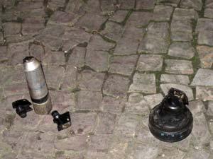 Polícia apreendeu artefato perto do consulado americano (Foto: Tássia Thum/G1)
