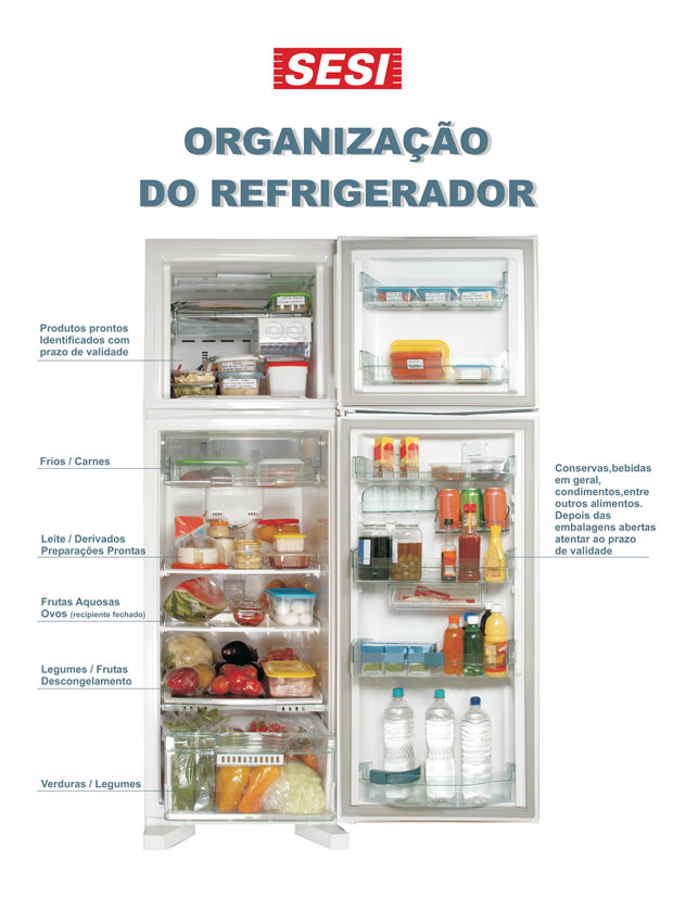 Saiba como organizar o refrigerador para aproveitar melhor os alimentos (Foto: Rede Globo)