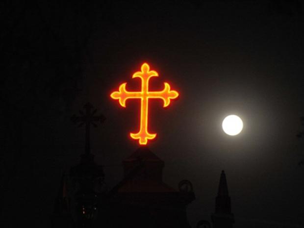 Lua cheia Índia (Foto: Noah Seelam / AFP Photo)