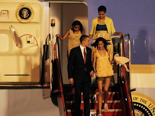 Família Obama chega ao Rio de Janeiro (Foto: Keiny Andrade / Agência O Globo)