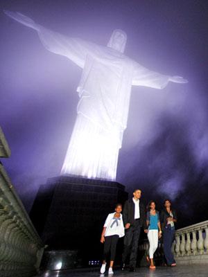 Obama, cristo, corcovado (Foto: AP)