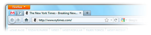 'App Tab' é uma das novidades do Firefox 4 (Foto: Divulgação)