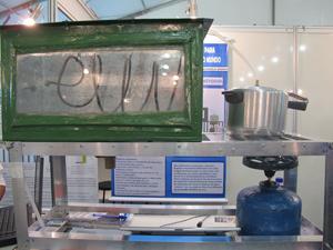 Destilador caseiro torna potável a água do mar (Foto: Tadeu Meniconi/G1)