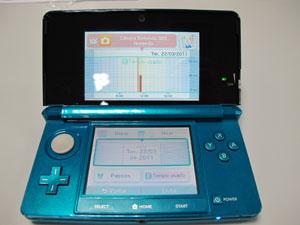 """Imagens mostra a tela de """"Registro de Atividade"""" do Nintendo 3DS (Foto: Gustavo Petró/G1)"""