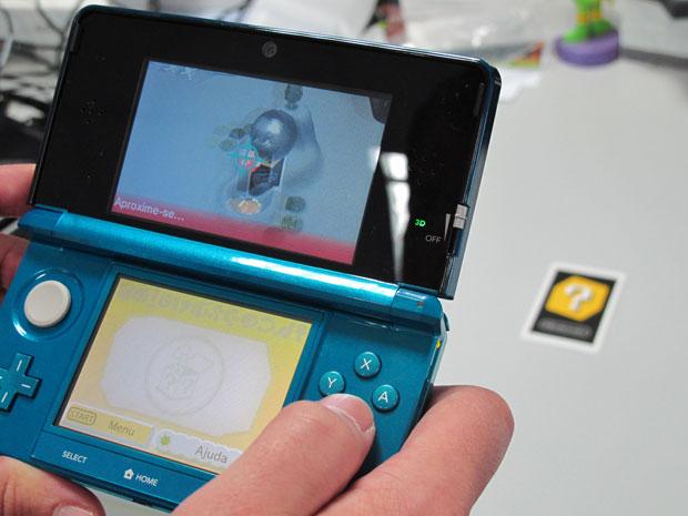 3DS realidade aumentada (Foto: Gustavo Petró/G1)