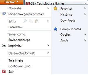 Novo botão de menu dispensa a 'barra de menu' (Foto: Reprodução)