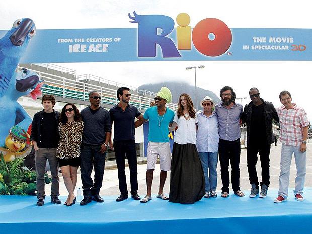 Elenco da animação 'Rio' (Foto: AGgNews)