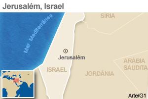 mapa jerusalém (Foto: 1)