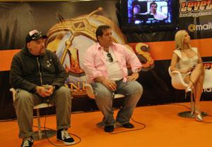 João Gordo, Leandro Hassum e Pietra Príncipe emprestam suas vozes aos personagens do RPG 'Allods Online' (Foto: Gustavo Petró/G1)