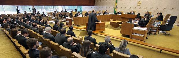 Sessão do STF desta quarta-feira (23), em que é julgado recurso contra a Lei da Ficha Limpa (Foto: Nelson Jr./SCO/STF)