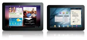 Novos tablets da Samsung, com tela de 10.1 e 8.9 polegadas (Foto: Divulgação)