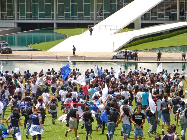 manifestacao de estudantes no congresso nacional (620) 3 (Foto: Redação G1)