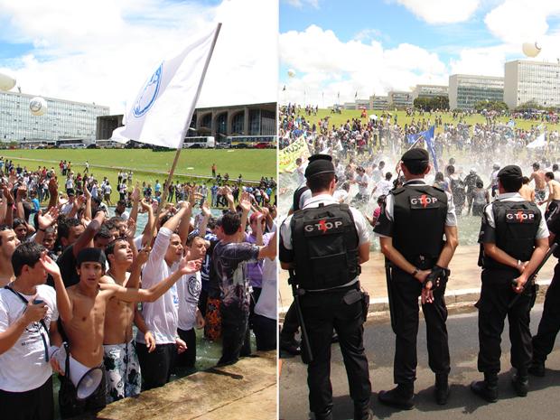 manifestacao de estudantes no congresso nacional (620) 8 (Foto: Redação G1)