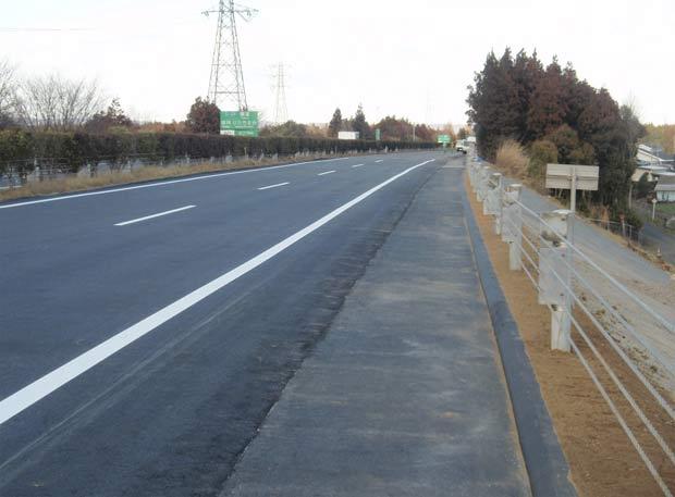 Imagem tirada no dia 17 de março mostra a rodovia já restaurada. (Foto: AP)