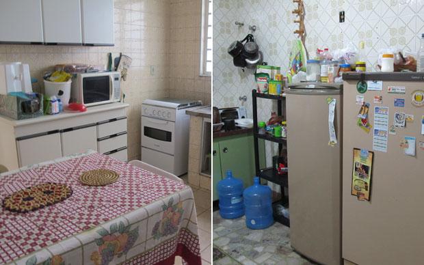 A cozinha das meninas e a cozinha dos meninos (Foto: Vanessa Fajardo/G1)