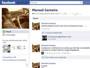 Marauê tirou post do Facebook e colocou outra mensagem sobre Piauí (Foto: Reprodução/Facebook)