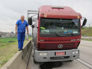 rodoanel caminhão (Foto: Juliana Cardilli/G1)