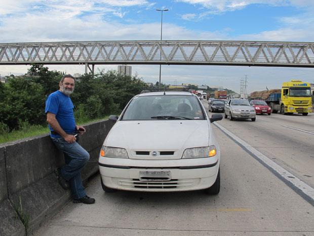 rodoanel motorista (Foto: Juliana Cardilli/G1)