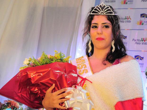Rebecca Rhaysa Suelen Guedes foi eleita Miss Penitenciária de Pernambuco (Foto: Divulgação/Paulo Almeida/Seres)