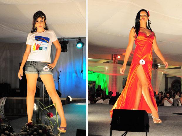 Rebecca Rhaysa Suelen Guedes e Inabel Priscila dos Prazeres desfilam durante concurso (Foto: Divulgação/Paulo Almeida/Seres)