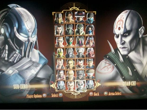 tela de seleção de personagens Mortal Kombat (Foto: Divulgação)